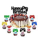 Video Gaming cupcake topper Video Game Themed Birthday decorations Video game cake topper video game cake derorations for the video game party supplies 25pcs