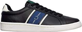 Fred Perry Men's B721 Leather/Webbing Low Top Sneakers Black