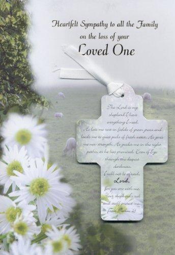 Carte de condoléances pour l'être aimé, psaume 23 : condoléances ouvertes