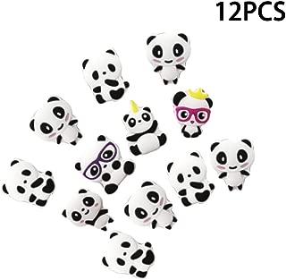 Toyvian 12Pcs Panda Ring Kids Finger Ring Toys Kids Gifts Party Favor Size L