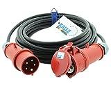 CEE-Verlängerungskabel Starkstromkabel Kraftstromkabel Gummiverlängerung H07RN-F 5G 2,5mm² 400V...