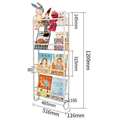 ZXPAG Revistero de Muro Estante de Libros ilustrados para niños librero estanterías estantes de la Pared casa de Hierro de la Pared para Ahorrar Espacio Simples Ultra-Delgado -,M