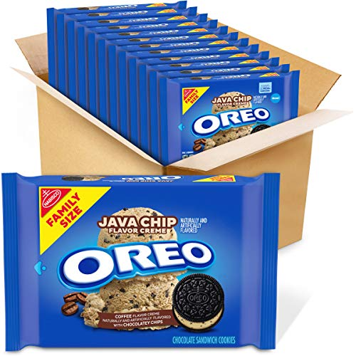 Oreo, Java Chip Flavored Creme Sandwich Cookies Family Size 17 Oz Pack 12, Chocolate, 12 Count