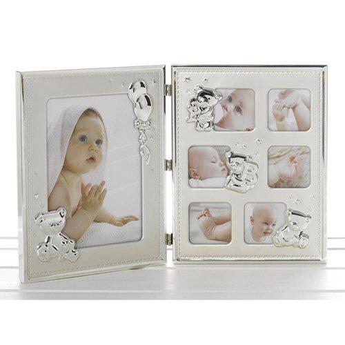 Shudehill Giftware Cadre photo pour bébé en satin brillant et pliable pour mur ou debout