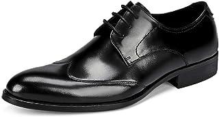[HAPPYDAY] 本革 ビジネスシューズ 大きいサイズ 革靴 メンズ ウイングチップ レザー ビジネス 軽量 通気性 紳士靴 レースアップシューズ 黒 ブラック ワインレッド フォーマル 結婚式 冠婚葬祭 23.5cm-28cm