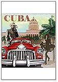 Imán para nevera de estilo retro de Cuba