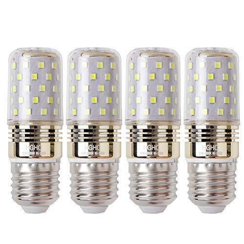 E27 Lampadina di Mais LED 12W, Bianca Freddo 6000K, 100W Lampadine a Incandescenza Equivalenti, 1200 Lumen, Lampadine LED a Piccola Vite Edison, (4-Pack)