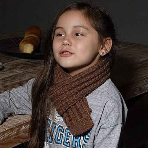 Kleinkind Kinder Warme Beanie MützeBaby warm Strickschal Herbst Winter Kinder Winter Wollschal - grün