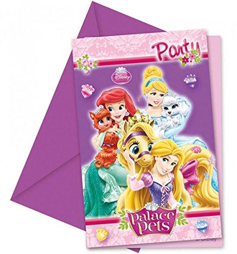 Disney Prinzessinnen Palace Pets Einladungskarten mit Umschlag
