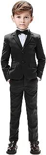 Boys Suits 5 Pieces Slim Fit Blazer Pants Black Blue Outfit Suit for Wedding