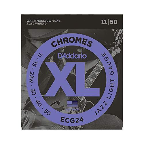 D'Addario ECG24 - Juego de cuerdas para guitarra eléctrica de cromo, 011'...