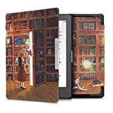 kwmobile Custodia Compatibile con Kobo Aura Edition 1 - Cover in Simil Pelle Magnetica Flip Case per eReader Multicolore