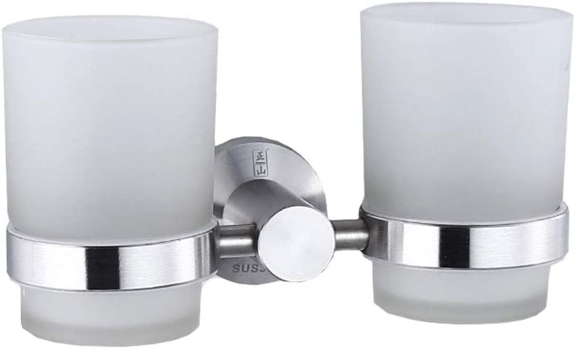 LSZ Outlet ☆ Free Shipping Bathroom quality assurance 304 Stainless Steel Cup Double To Holder Toothpaste