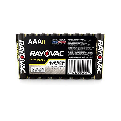 Rayovac Batteries ALAAA8PK Alkaline Batteries, Size AAA (Pack of 8)