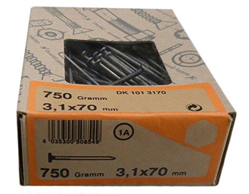 750gr. Senkkopfnägel 3,1x70 mm DK 1013170