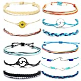 choice of all 3 Pcs Summer Surfer Wave Bracelet Adjustable Friendship Bracelet Handcrafted Jewelry Women (G:peaks)