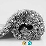 az/úl Lavable en la Lavadora Extra Suave Alfombras para ba/ños d/óff Alfombra ba/ño Microfibra Chenilla 50x80cm Alfombrilla de ba/ñera Antideslizante Absorbente