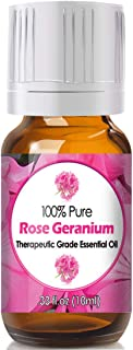 Rose Geranium Essential Oil for Diffuser & Reed Diffusers (100% Pure Essential Oil) 10ml