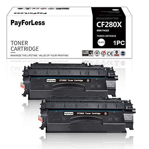 PayForLess Kompatibel Toner für HP CF280X 280X 80X für HP Laserjet Pro 400 M401dn M401a M401d M401dne M401dw M401n M425dn M425dw