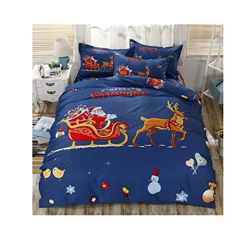 NAFE - Juego de sábanas para cama doble, matrimonial, 4 piezas, extra suave, fácil de instalar, transpirable y refrigerante, sin arrugas, cómodo, juego de sábanas para cama doble