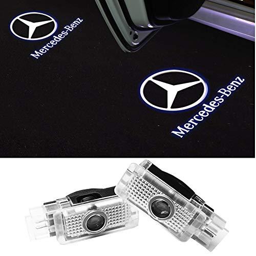 Autotür LED Logo Schatten Lichter Tür Schatten Licht Willkommen Licht für Mercedes-Benz CLA (CLA-Klasse) 2 Stück