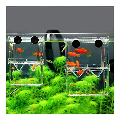 MINGMIN-DZ Dauerhaft 2 Stück 8 * 7 * 11cm Doppel-Deck Löschen FISCHZUCHT Isokoffer Aquarium Züchter Fish Tank Schlüpfen Incubator Fish House Startseite