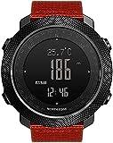 HYK Orologio intelligente da 50 m impermeabile contapassi orologio sportivo da passeggio alpinismo nuoto bussola altimetro barometro orologio digitale (C)