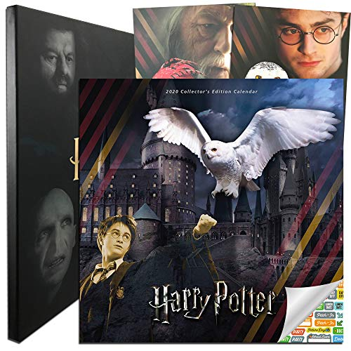 Harry Potter Calendar 2020 Bundle - Deluxe 2020 Harry Potter Collector's Edition Calendar with Over 100 Calendar Stickers (Harry Potter Gifts, Office Supplies)