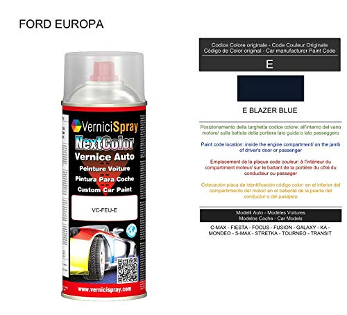 E BLAZER BLUE Automotive Touch Up Verf in spray 400 ml door VerniciSpray