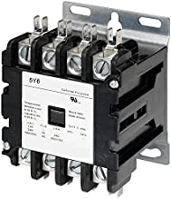 5y6 40 AMP DEFINITE PURPOSE CONTACTOR 4 Pole 120V Lighting Heating Refrigeration 1225 Sound