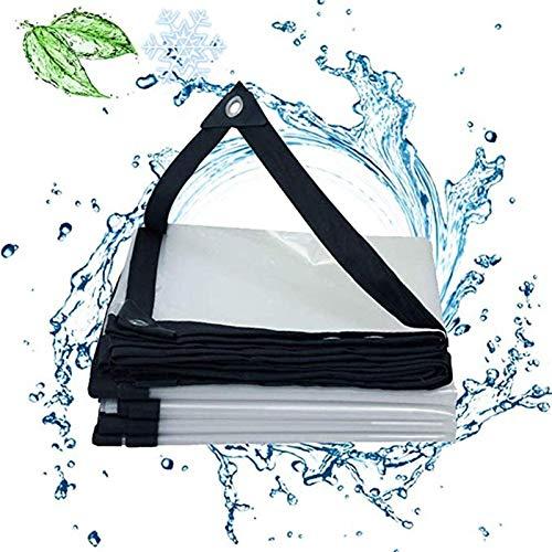 Jeseca Lona Transparente Paño de lluviaLona Refugio de la lluviaPaño Impermeable de PVCLámina de plástico for balcónproteccion solarEspesarPabellón,El tamaño se Puede Personalizar