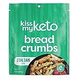 Kiss My Keto Bread Crumbs Italian Seasoned - Zero Carb Breadcrumbs (0g-Net)   Low Sodium, Low Carb Breadcrumbs Italian   Sugar Free, 6g Protein / Serving, Soy Free, Non-GMO, Vegetarian & Keto Friendly