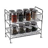 Kitchenista Free Standing Spice Jar & Food Storage Rack - Chrome