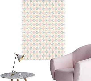 Wall Painting Pattern Square Motifs Pastel V Tage Tile Cream Light Light High-Definition Design,20