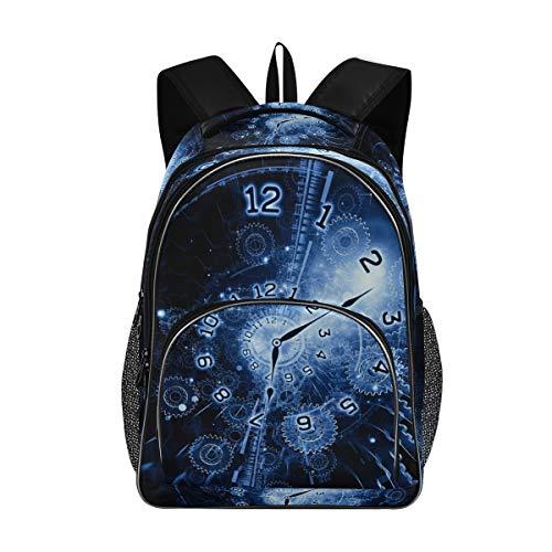 Umhängetasche Camping Casual Rucksack Tagesrucksack Multifunktionsuhr Uhr Büchertasche