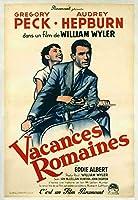 a直輸入、小ポスター、フランス版、「ローマの休日」オードリー・ヘップバーン、グレゴリー・ペック 、6145