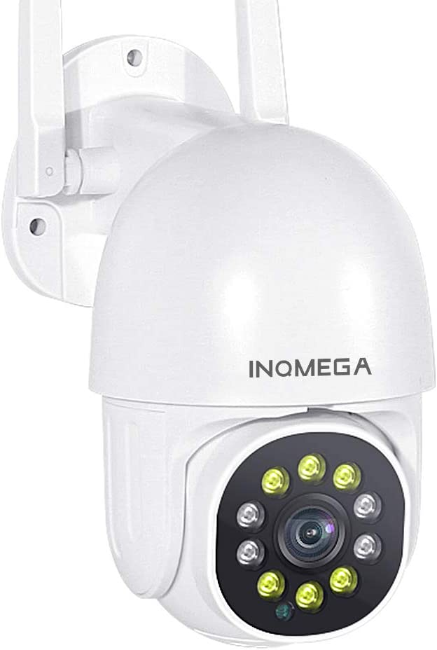 INQMEGA PTZ Camera Outdoor, 1080P PTZ Camera with Pan/Tilt 360° View Night Vision, WiFi Home Security IP Camera, 2-Way Audio Motion Detection Activity Alert Support Max 128G TF Card