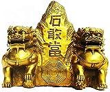 DCLINA Feng Shui Un par latón Puro Guardián León Fu Foo Perros Beijing Lions Estatuas Decoración para protegerse la energía maligna inauguración la casa