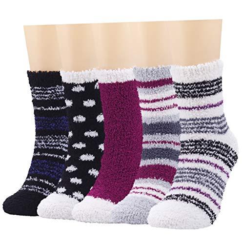 HexyHair Fuzzy Socks for Women Fluffy Cozy Warm Soft Plush Slipper Socks for Sleeping Girls Comfy Holiday Socks Winter