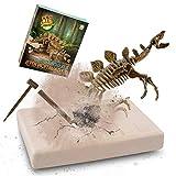 JamBer Dig Up Dinosaurs Set, Dinosaur Fossil Digging kit for Kids, Science Educational Realistic Toys for Boys, Girls (Stegosaurus)