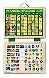 Melissa & Doug- Calendario Magnetico in Legno con 90 Magneti, Multicolore, 3789