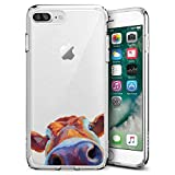 Fashion Anti-Scratch Soft Durable TPU Ultra-Clear Silicone UV Printing Protective Watercolor Cattle Phone Case for iPhone 7 Plus 8 Plus