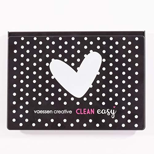 Vaessen Creative 1009-001 Clean Easy Stempelreinigungskasten, Dose mit Reinigungskissen zum Reinigen von Clear und Cling Stamps, Motivstempeln und weiteren Stempeln, Multi-Colour