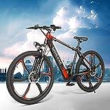 SAMEBIKE Bicicleta de montaña de 26 Pulgadas para Adultos,Bicicletas eléctricas 350W 36V 8AH,Shimano de 7 velocidades,Estructura de Acero con Alto Contenido de Carbono,Bicicletas asistidas por Pedal
