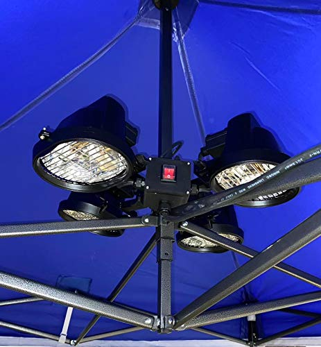All Seasons Gazebos 500W x 4 Bulb ( 2,000W ) Electric Gazebo / Patio Heater with Extra Long 5m Wire