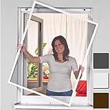 Mosquitera de Easy life en poliester Medidas: 120x140 cm y marco de aluminio de color blanco