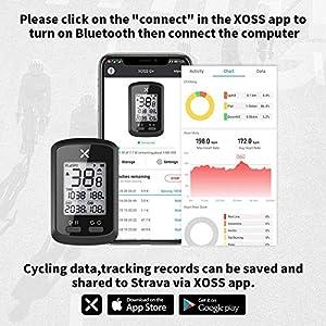 XOSS Ciclocomputador G+ GPS inalámbrico Velocímetro Impermeable Bicicleta de Carretera MTB Bicicleta Bluetooth Ant + con computadoras de Ciclismo de cadencia (G+)