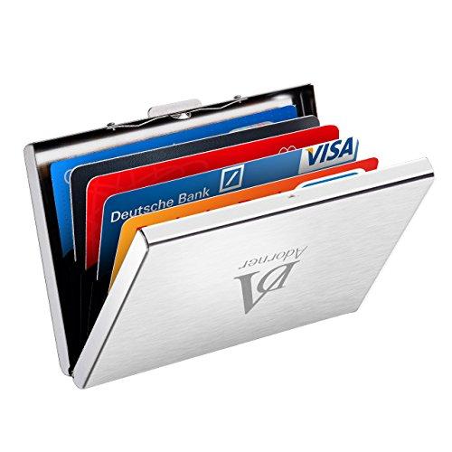 クレジットカードケース クレジットカードケース 磁気防止 スキミング防止 RFID識別 クレジットカードケース 薄型クレジットカード 男女兼用 カードケース ステンレス鋼 スロット 六つあり(シルバー)