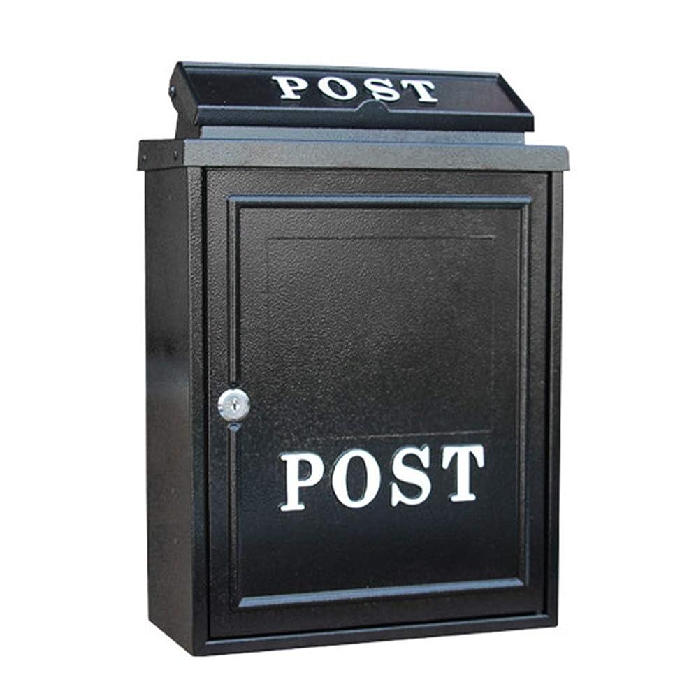 寝てるご意見ドキドキ郵便受け?メールボックス 大容量商用農村ホーム装飾ウォールマウントロック可能なメールボックス現代のアウトドアメタルキーを亜鉛メッキ レターボックス (Color : A11, Size : 28.4x12.5x41cm)
