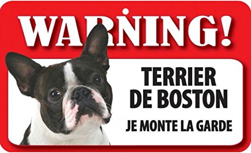 Plaque Terrier boston \
